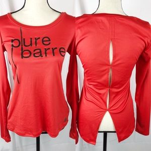Pure Barre x Splits59 | Coral Red Keyhole Back Top